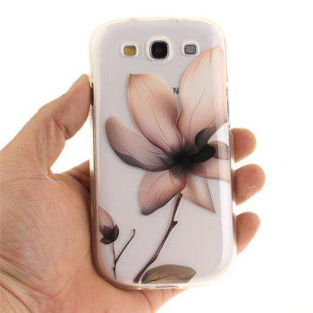 Magnolia Soft Clear IMD TPU Phone Casing Mobile Smartphone Cover Shell Case for Samsung Galaxy S3 I9300 - TRANSPARENT