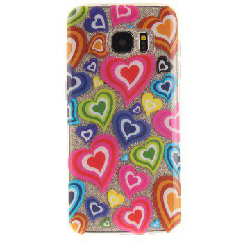 Color of Love Soft Clear IMD TPU Phone Casing Mobile Smartphone Cover Shell Case for Samsung Galaxy S7 Edge - COLOUR