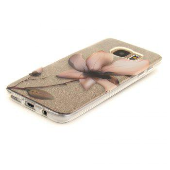 Magnolia Soft Clear IMD TPU Phone Casing Mobile Smartphone Cover Shell Case for Samsung Galaxy S7 Edge - TRANSPARENT
