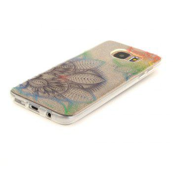 Fantasy Flowers Soft Clear IMD TPU Phone Casing Mobile Smartphone Cover Shell Case for Samsung Galaxy S7 Edge - COLOUR