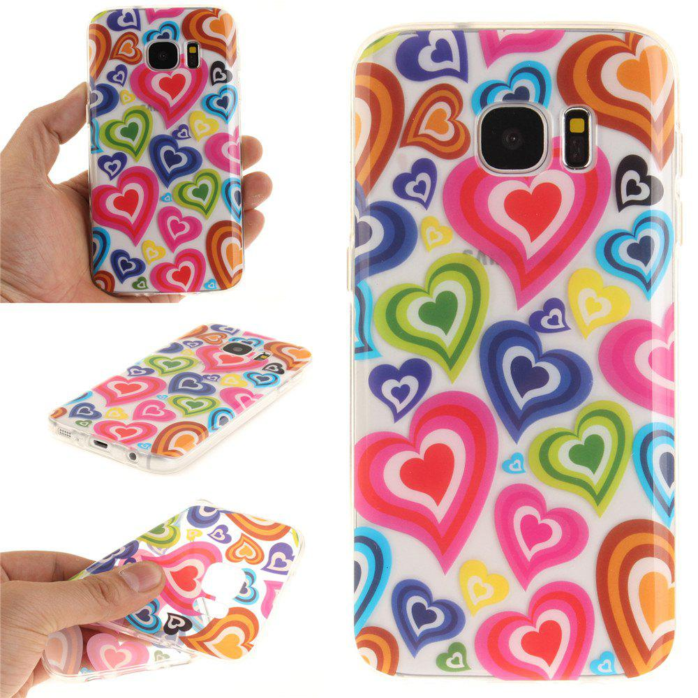 Color of Love Soft Clear IMD TPU Phone Casing Mobile Smartphone Cover Shell Case for Samsung Galaxy S7 - COLOUR