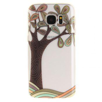 Hand Draw A Tree Soft Clear IMD TPU Phone Casing Mobile Smartphone Cover Shell Case for for Samsung Galaxy S7 - GREEN