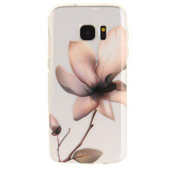 Magnolia Soft Clear IMD TPU Phone Casing Mobile Smartphone Cover Shell Case for Samsung Galaxy S7 - TRANSPARENT
