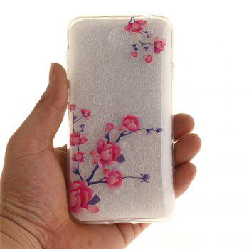 Peach Blossom Soft Clear IMD TPU Phone Casing Mobile Smartphone Cover Shell Case for Huawei Y5II - SANGRIA