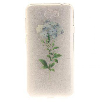 Flower Soft Clear IMD TPU Phone Casing Mobile Smartphone Cover Shell Case for Huawei Y5II - BLUE