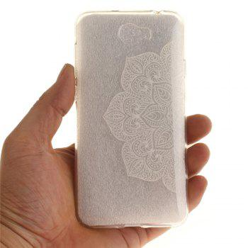 Half of White Flowers Soft Clear IMD TPU Phone Casing Mobile Smartphone Cover Shell Case for Huawei Y5II - WHITE