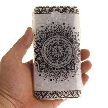 Black Datura Soft Clear IMD TPU Phone Casing Mobile Smartphone Cover Shell Case for Huawei Y5II - BLACK