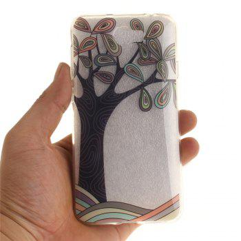Hand Draw A Tree Soft Clear IMD TPU Phone Casing Mobile Smartphone Cover Shell Case for Huawei Y5II - GREEN