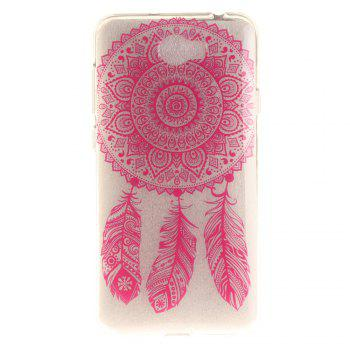 Rose Bell Soft Clear IMD TPU Phone Casing Mobile Smartphone Cover Shell Case for Huawei Y5II - ROSE RED