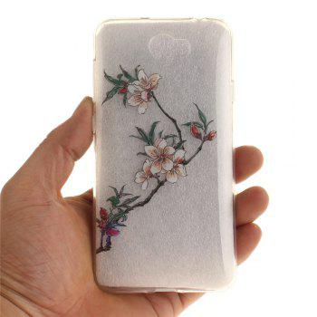 Azalea Soft Clear IMD TPU Phone Casing Mobile Smartphone Cover Shell Case for Huawei Y5II - TRANSPARENT