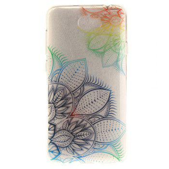 Fantasy Flowers Soft Clear IMD TPU Phone Casing Mobile Smartphone Cover Shell Case for Huawei Y5II - COLOUR