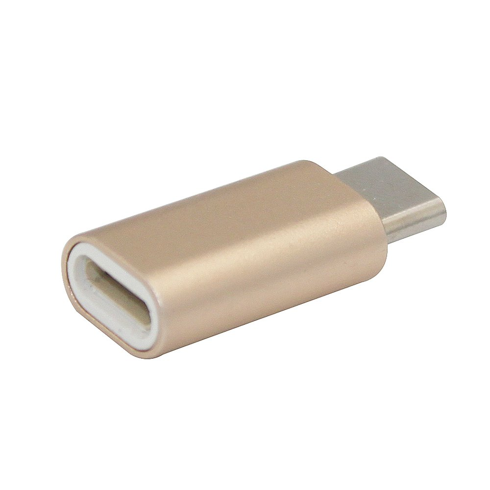 Minismile Aluminium Alloy USB 3.1 Type-C Male to 8 Pin Female Data Sync Charging Adapters Converters - GOLDEN