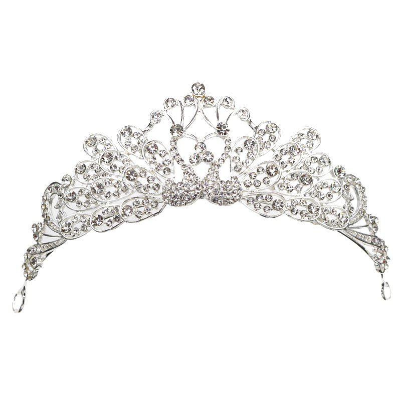 New Arrival Luxury Wedding Bridal Bridesmaid Tiara Crown Hair Comb Peacock Girls Princess Rhinestone Party Jewelry elsa tiaras princess crown hair accessories crystal diamond candy color tiara magic wand party bridal wedding jewelry accessory