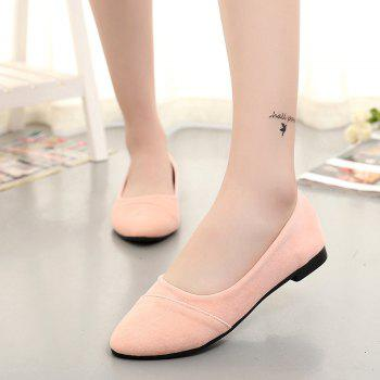 The Shallow Mouth Pointed Women's Shoes With Flat Sole - PINK 39