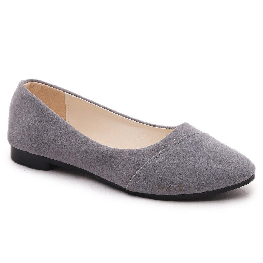 The Shallow Mouth Pointed Women's Shoes With Flat Sole