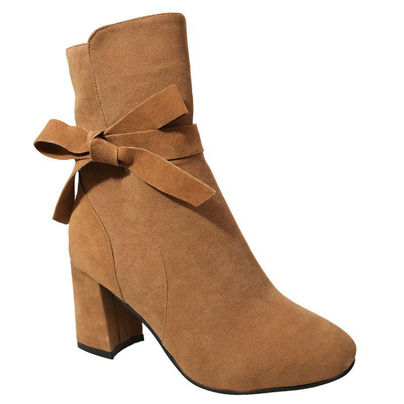 Thick Heel Lace Martin Boots