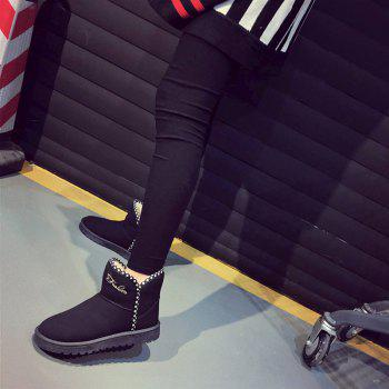Women Fashion Outdoors Warm Leisure Snow Boots Casual Shoes Sneaker - BLACK 36