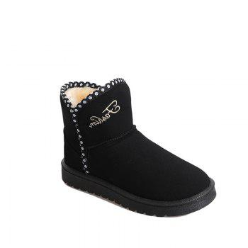 Women Fashion Outdoors Warm Leisure Snow Boots Casual Shoes Sneaker - BLACK BLACK