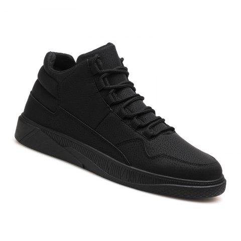 Men Fashion Snow Boots Outdoors Casual Cotton Shoes Sneaker - BLACK 42