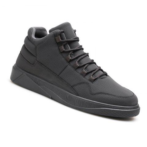 Men Fashion Snow Boots Outdoors Casual Cotton Shoes Sneaker - GRAY 43
