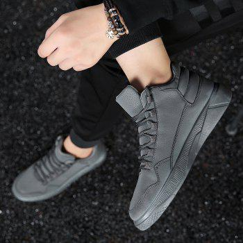 Men Fashion Snow Boots Outdoors Casual Cotton Shoes Sneaker - GRAY 44