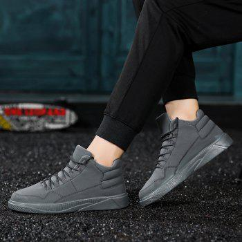 Men Fashion Snow Boots Outdoors Casual Cotton Shoes Sneaker - GRAY 41
