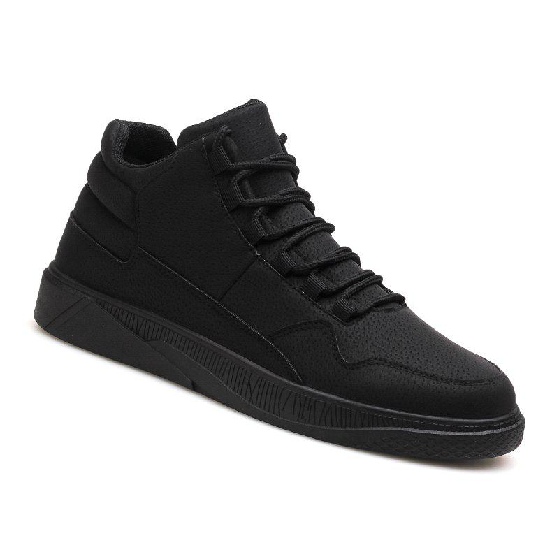 Men Fashion Snow Boots Outdoors Casual Cotton Shoes Sneaker - BLACK 39