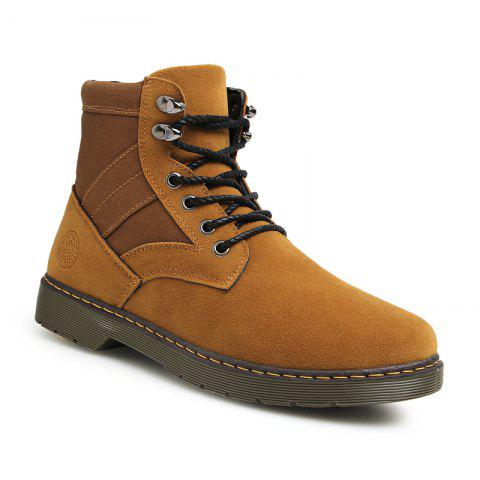Men Fashion Boots Outdoors Casual High Top Black Shoes Sneaker - BROWN 40