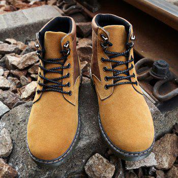 Men Fashion Boots Outdoors Casual High Top Black Shoes Sneaker - BROWN 44
