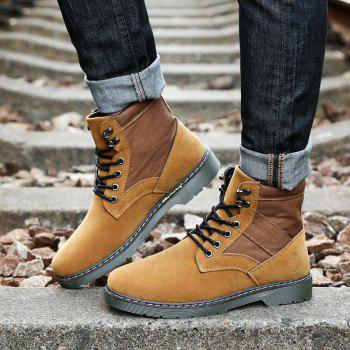 Men Fashion Boots Outdoors Casual High Top Black Shoes Sneaker - BROWN 42