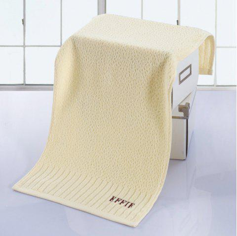 Pure Cotton Jacquard and Embroidery With Super Soft Suction Face Towel - OFF WHITE 33CM X 71CM