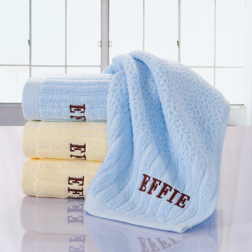 Pure Cotton Jacquard and Embroidery With Super Soft Suction Face Towel - AZURE 33CM X 71CM