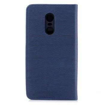 Cover Case for Xiaomi Redmi Note 4X Card Holder with Stand Flip Full Body Lines / Waves Hard PU Leather - BLUE