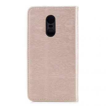 Cover Case for Xiaomi Redmi Note 4X Card Holder with Stand Flip Full Body Lines / Waves Hard PU Leather -  GOLDEN