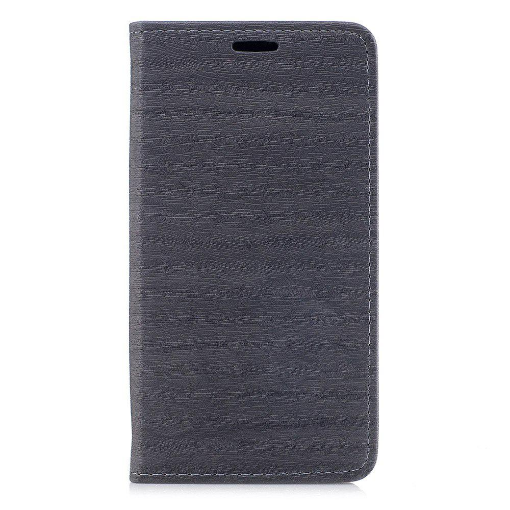 Cover Case for Xiaomi Redmi Note 4X Card Holder with Stand Flip Full Body Lines / Waves Hard PU Leather - GRAY