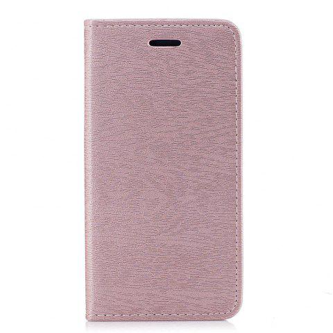Cover Case for Xiaomi Redmi 4X Card Holder with Stand Flip Full Body Lines / Waves Hard PU Leather - ROSE GOLD