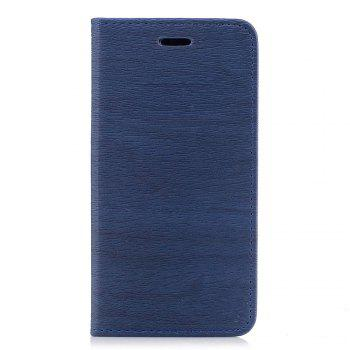 Cover Case for Xiaomi Redmi 4X Card Holder with Stand Flip Full Body Lines / Waves Hard PU Leather - BLUE BLUE