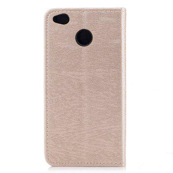 Cover Case for Xiaomi Redmi 4X Card Holder with Stand Flip Full Body Lines / Waves Hard PU Leather -  GOLDEN