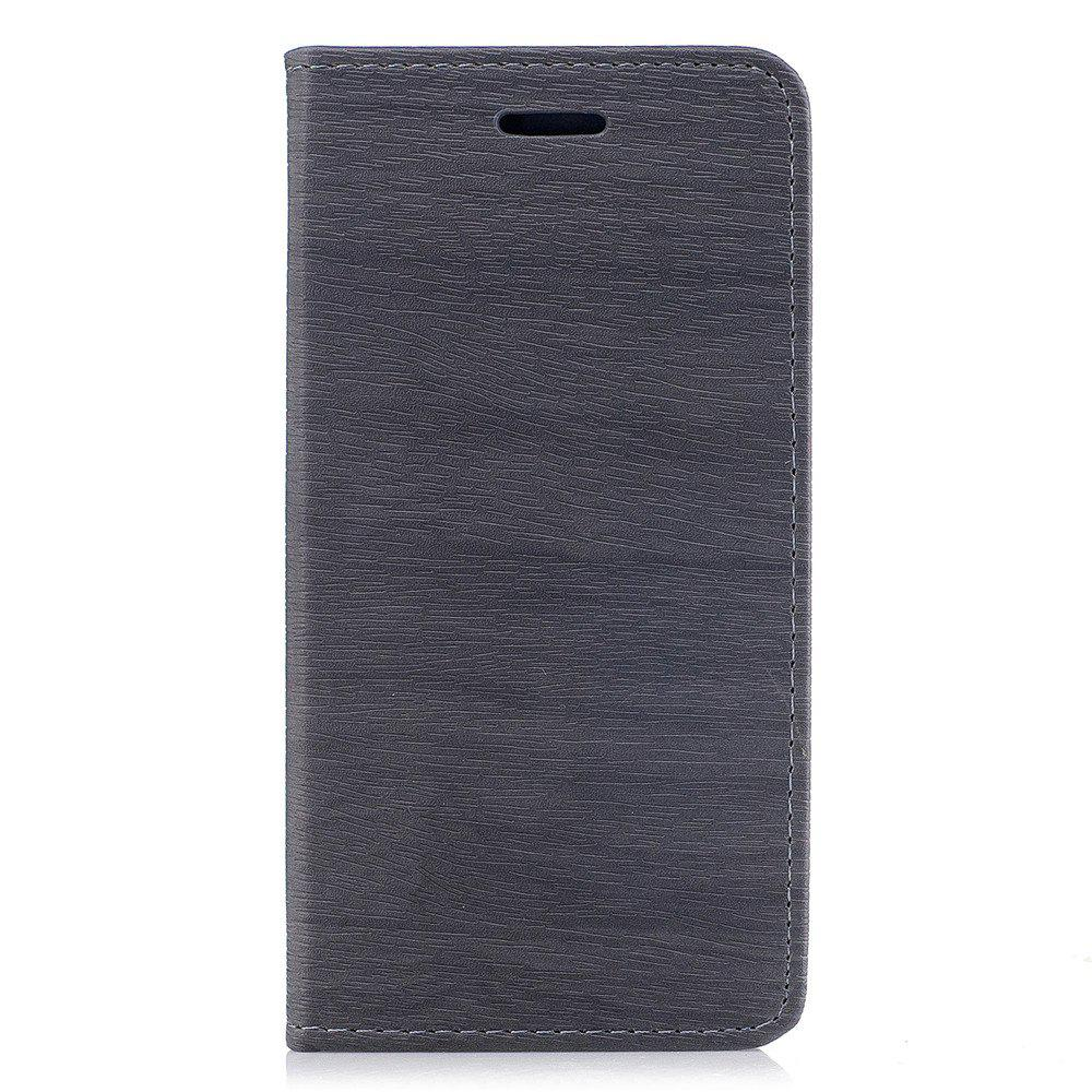 Cover Case for Xiaomi Redmi 4X Card Holder with Stand Flip Full Body Lines / Waves Hard PU Leather - GRAY