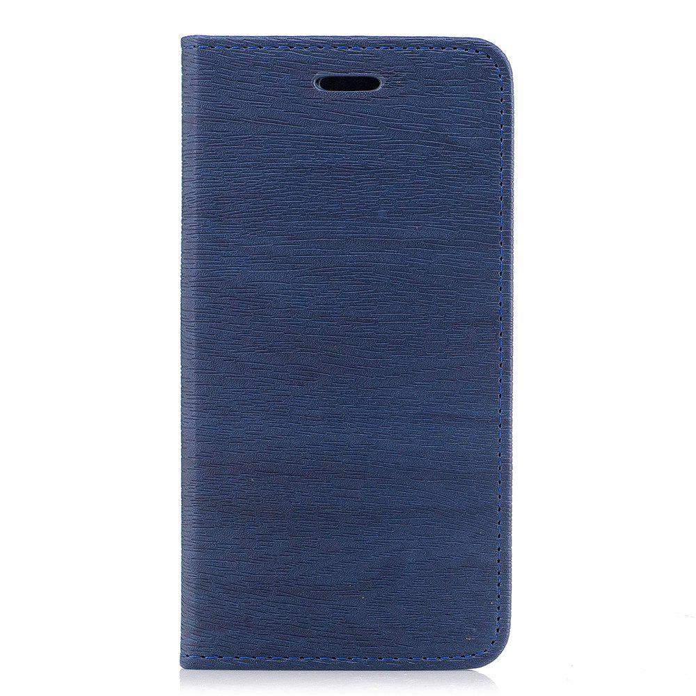 Cover Case for Xiaomi Redmi 4X Card Holder with Stand Flip Full Body Lines / Waves Hard PU Leather - BLUE