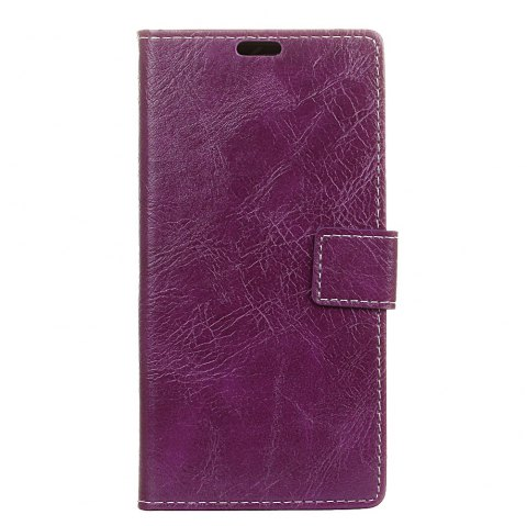 Cover Case For Doogee BL7000 Genuine Quality Retro Style Crazy Horse Pattern Flip PU Leather Wallet Case - PURPLE