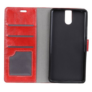 Cover Case For Doogee BL7000 Genuine Quality Retro Style Crazy Horse Pattern Flip PU Leather Wallet Case - RED
