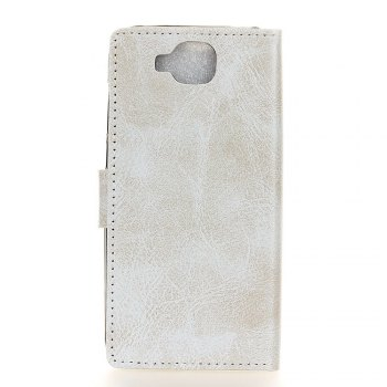 Cover Case For Xiaomi Mi Mix 2 Genuine Quality Retro Style Crazy Horse Pattern Flip PU Leather Wallet Case - WHITE