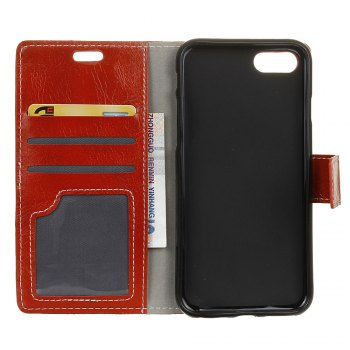 Cover Case For Xiaomi Mi Note 3 Genuine Quality Retro Style Crazy Horse Pattern Flip PU Leather Wallet Case - RED