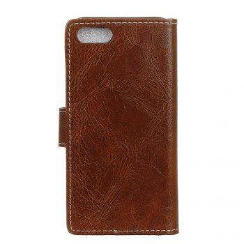 Cover Case For Xiaomi Mi Note 3 Genuine Quality Retro Style Crazy Horse Pattern Flip PU Leather Wallet Case - BROWN