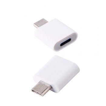 New Style Iphone  8 pin to USB 3.1 Type-C Male Converter Adapter - WHITE