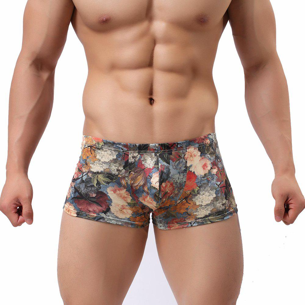 Men'S Underwear Men's Boxer Shorts - BLUE L