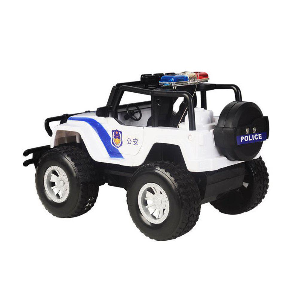 Four-Channel Wireless Remote Police Car - BLACK WHITE