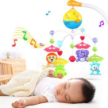 Baby Bed Bell Music Rotation Animal Early Education Baby Toy - COLORMIX COLORMIX