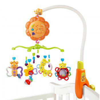 Baby Bed Bell Music Rotation Newborn Baby Toy - COLORMIX COLORMIX